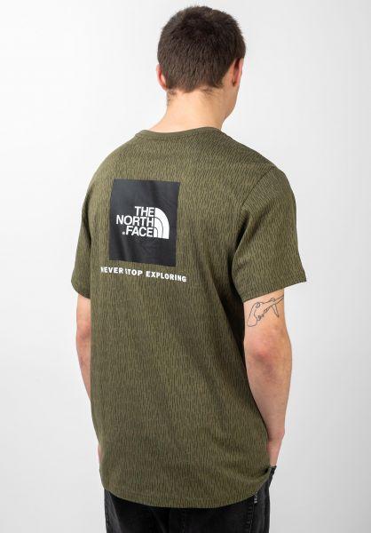 The North Face T-Shirts Redbox burntolive-greenraincamoprint vorderansicht 0320628