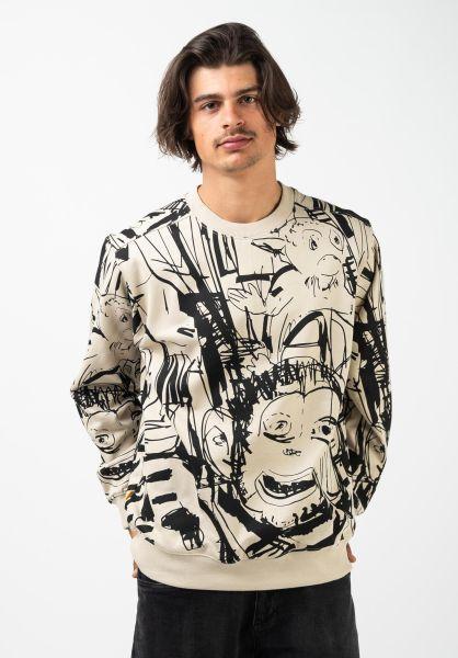 Wemoto Sweatshirts und Pullover Pem Crew sand vorderansicht 0423013