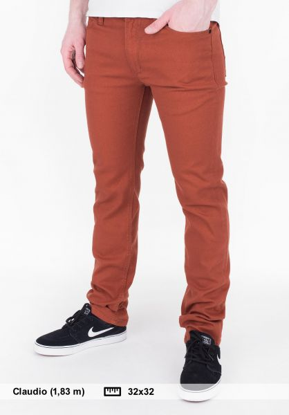 Reell Jeans Skin brown-orange Vorderansicht