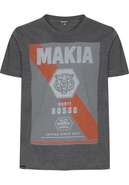 Makia T-Shirts Tiger Style grey Vorderansicht