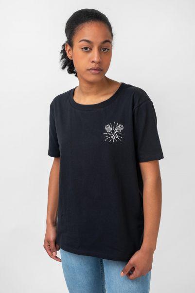 TITUS T-Shirts Roses black vorderansicht 0383196