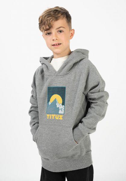 TITUS Hoodies Rockies Kids greymottled vorderansicht 0445844