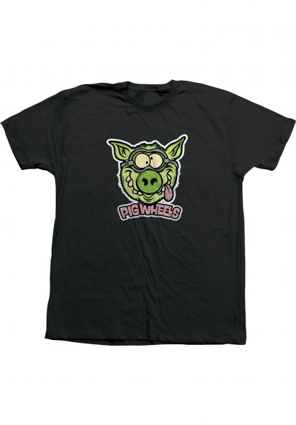 Pig T-Shirts Toxic black vorderansicht 0323285