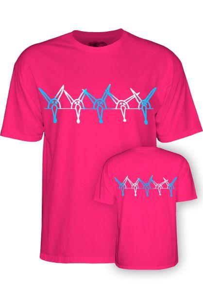 Powell-Peralta T-Shirts Vato Rat Band Kids hot-pink vorderansicht 0398317