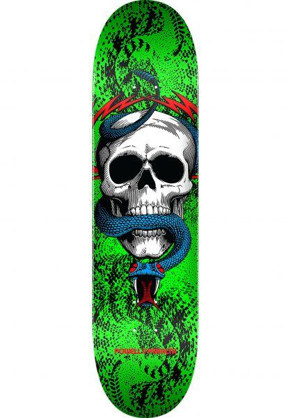 Powell-Peralta Skateboard Decks Skull & Snake Birch one off-green Vorderansicht