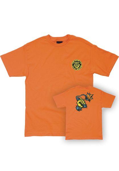 OJ Wheels T-Shirts Speed Is The Need orange vorderansicht 0399502