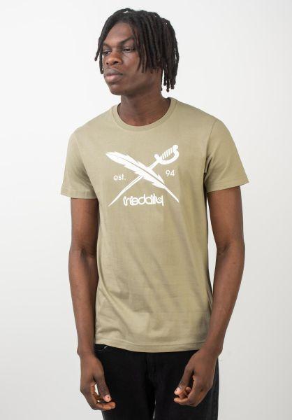 iriedaily T-Shirts Daily Flag olivegrey vorderansicht 0391517