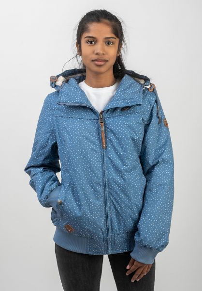 Ragwear Winterjacken Jotty Drop blue vorderansicht 0250085