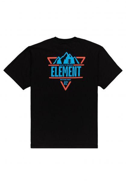 Element T-Shirts Grizzard flintblack vorderansicht 0323364