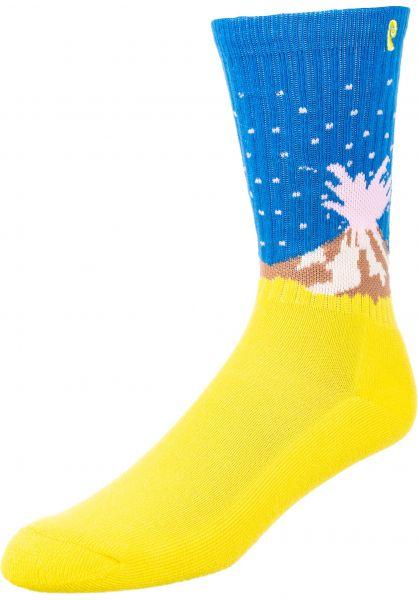Psockadelic Socken Volcano neon vorderansicht 0631744