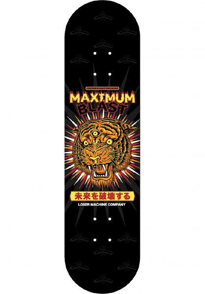 Loser-Machine Skateboard Decks Bengal Buster black vorderansicht 0264260