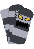 Toy-Machine Socken Monster Big Stripe grey Vorderansicht