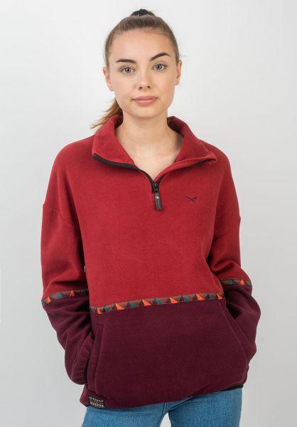 iriedaily Sweatshirts und Pullover Hopi Fleece Troyer wine vorderansicht 0422703