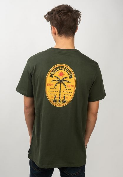 Billabong T-Shirts Trifecta darkmilitary vorderansicht 0320673