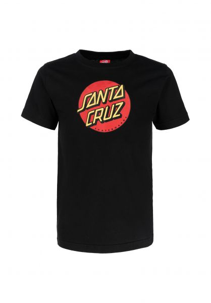 Santa-Cruz T-Shirts Youth Classic Dot FW19 black unteransicht 0321703