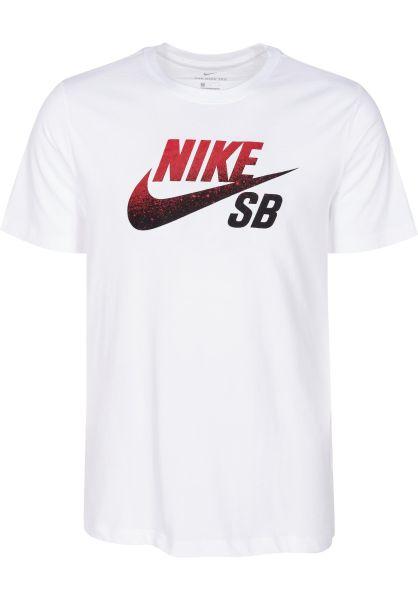 Nike SB T-Shirts Dry DFCT Logo NBA white vorderansicht 0399874