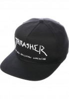 Thrasher Caps New Religion Snapback black Vorderansicht