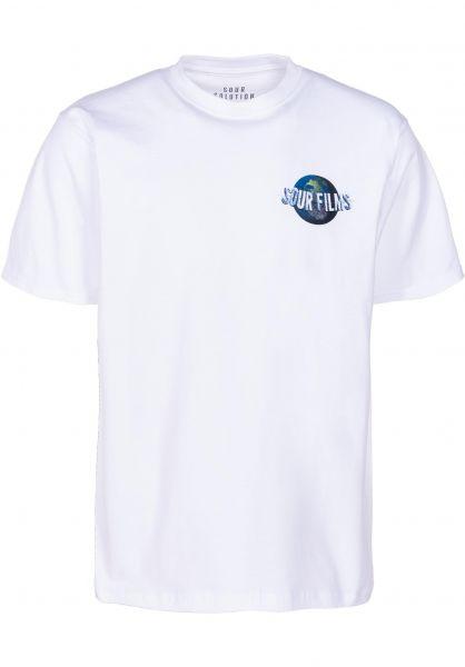 Sour Skateboards T-Shirts Sour Films white vorderansicht 0399998