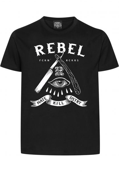 Rebel Rockers T-Shirts HKD black Vorderansicht