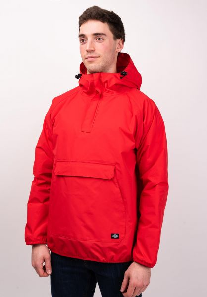 Dickies Windbreaker Rexville fieryred vorderansicht 0122422