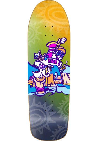 New-Deal Skateboard Decks Ibaseta Tugboat Heattransfer neonmulticolor vorderansicht 0264582