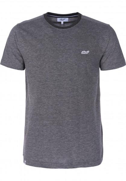 Reell T-Shirts Pique darkgrey Vorderansicht