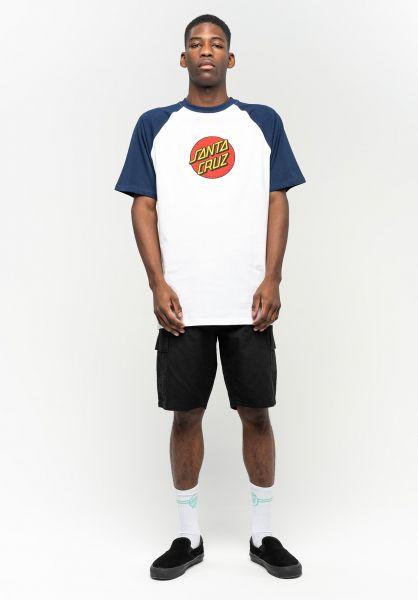 Santa-Cruz T-Shirts Classic Dot Raglan darknavy-white vorderansicht 0323262