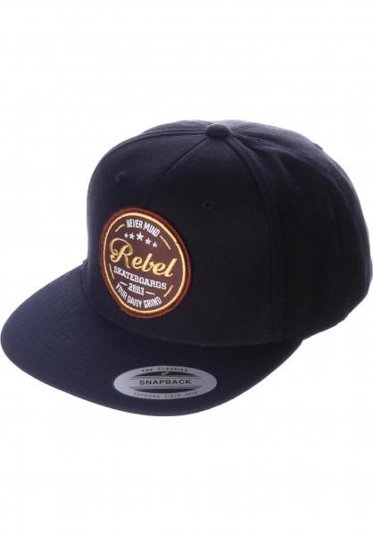 Rebel Rockers Caps Never mind black Vorderansicht