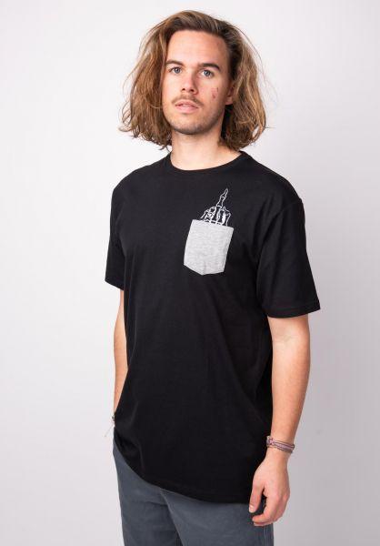 TITUS T-Shirts Signet Ring Pocket black vorderansicht 0398362