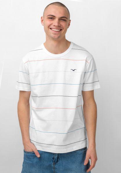 Cleptomanicx T-Shirts Multi Stripe white vorderansicht 0397442