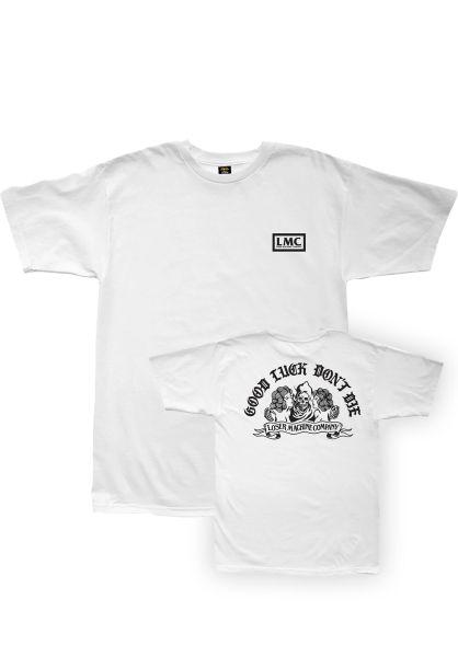 Loser-Machine T-Shirts No Trouble white vorderansicht 0322766