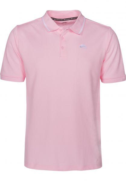 Nike SB Polo-Shirts DFT Piquet Tipped prismpink-white Vorderansicht