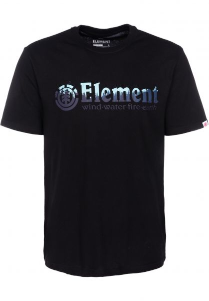 Element T-Shirts Glimpse Horizontal flintblack vorderansicht 0399803
