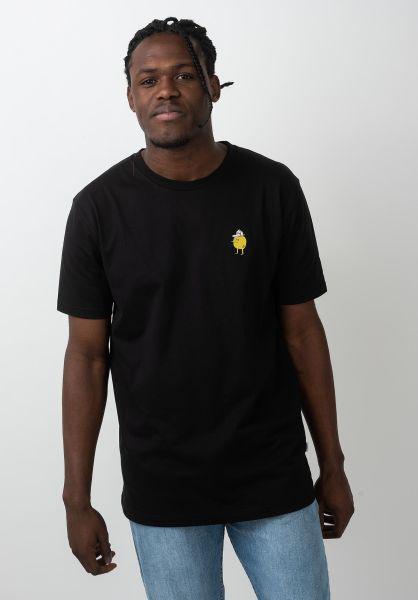 Cleptomanicx T-Shirts Zitrone black vorderansicht 0321160