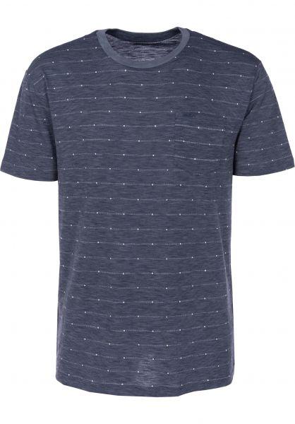 RVCA T-Shirts Double Dip blueslate Vorderansicht