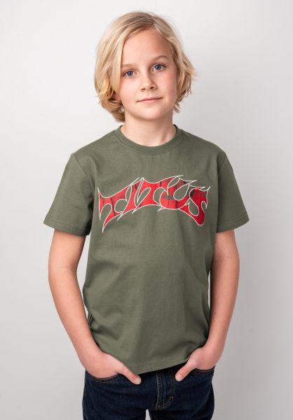 TITUS T-Shirts Schranz Kids olive vorderansicht 0373632