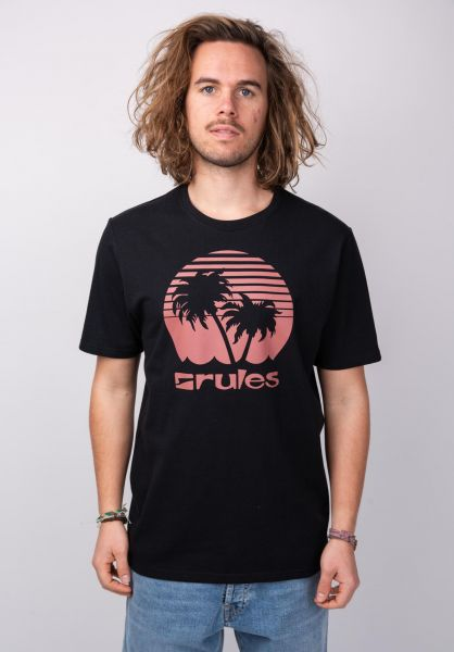 Rules T-Shirts Palms black-bordeaux vorderansicht 0395411
