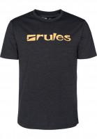 Rules T-Shirts Basic darkgreymottled-orange Vorderansicht