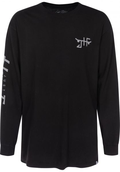 Just Have Fun Longsleeves Teamed Up black Vorderansicht