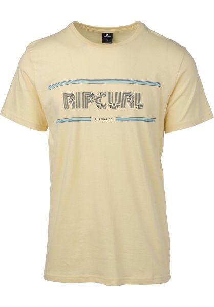 Rip Curl T-Shirts Mama Strokes paleyellow vorderansicht 0399967