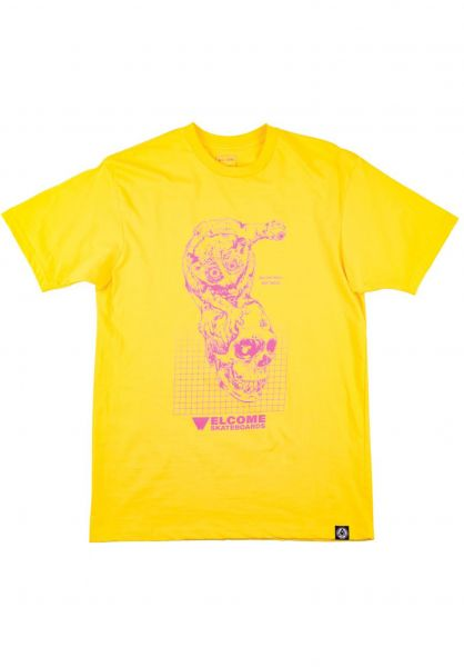 Welcome T-Shirts Real Hell yellow Vorderansicht