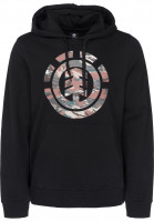 Element Hoodies Logo Fill flintblack Vorderansicht
