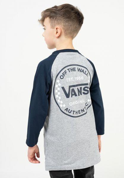 Vans Longsleeves Authentic Checker Raglan Kids athleticheather-dressblues vorderansicht 0383991