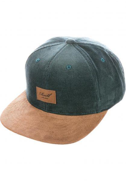 Reell Caps Suede 6-Panel darkgreen vorderansicht 0564484