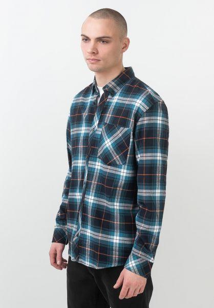 Carhartt WIP Hemden langarm Phil Shirt philcheck-moodyblue vorderansicht 0411984
