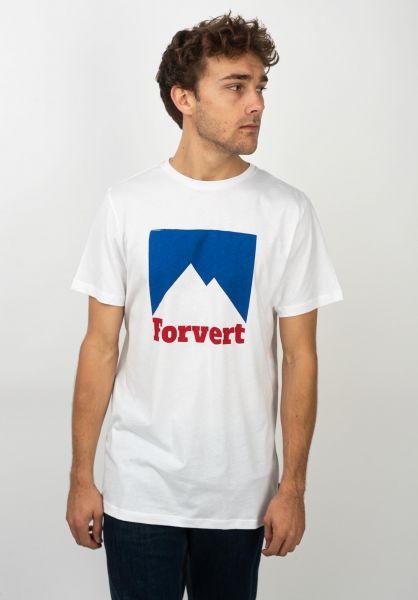 Forvert T-Shirts Palmer white vorderansicht 0399455
