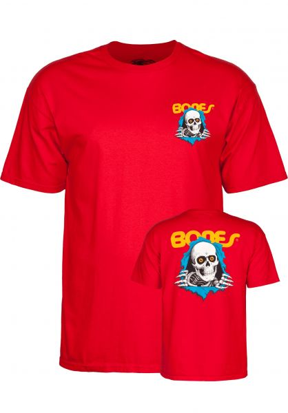 Powell-Peralta T-Shirts Ripper Kids red Vorderansicht