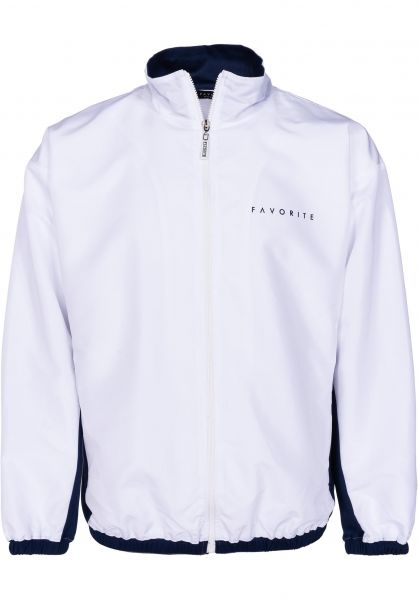 Favorite Trainingsjacken Nylon Track Jacket white-navy vorderansicht 0670329