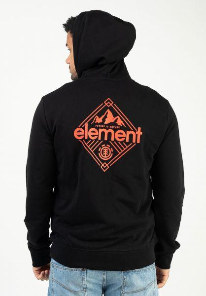 Element Zip-Hoodies Duggar flintblack vorderansicht 0454872