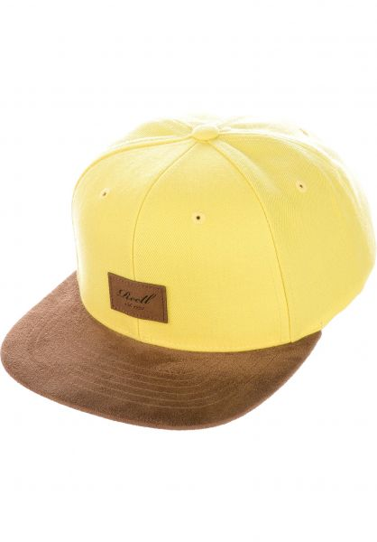 Reell Caps Suede 6-Panel lightyellow vorderansicht 0564484